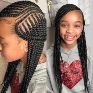 Braids Hairstyle For Black Girls Kids Braided Hairstyles Black Kids Hairstyles African Braids Hairstyles