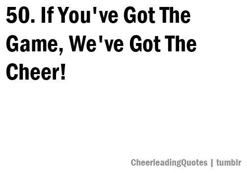 cheerleading quote | Tumblr