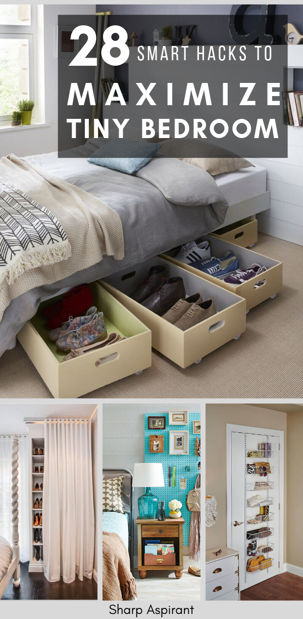 28 Small Bedroom Organization Ideas That Are Smart And Stylish Sharp Aspirant Small Bedroom Organization Small Bedroom Organization Bedroom