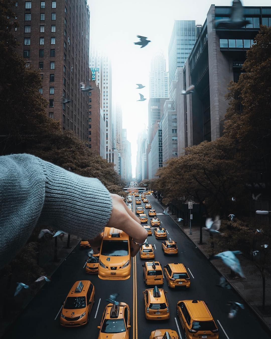 Photo illustration by ivvnwong a toy taxi enters manhattan s fast lane in this