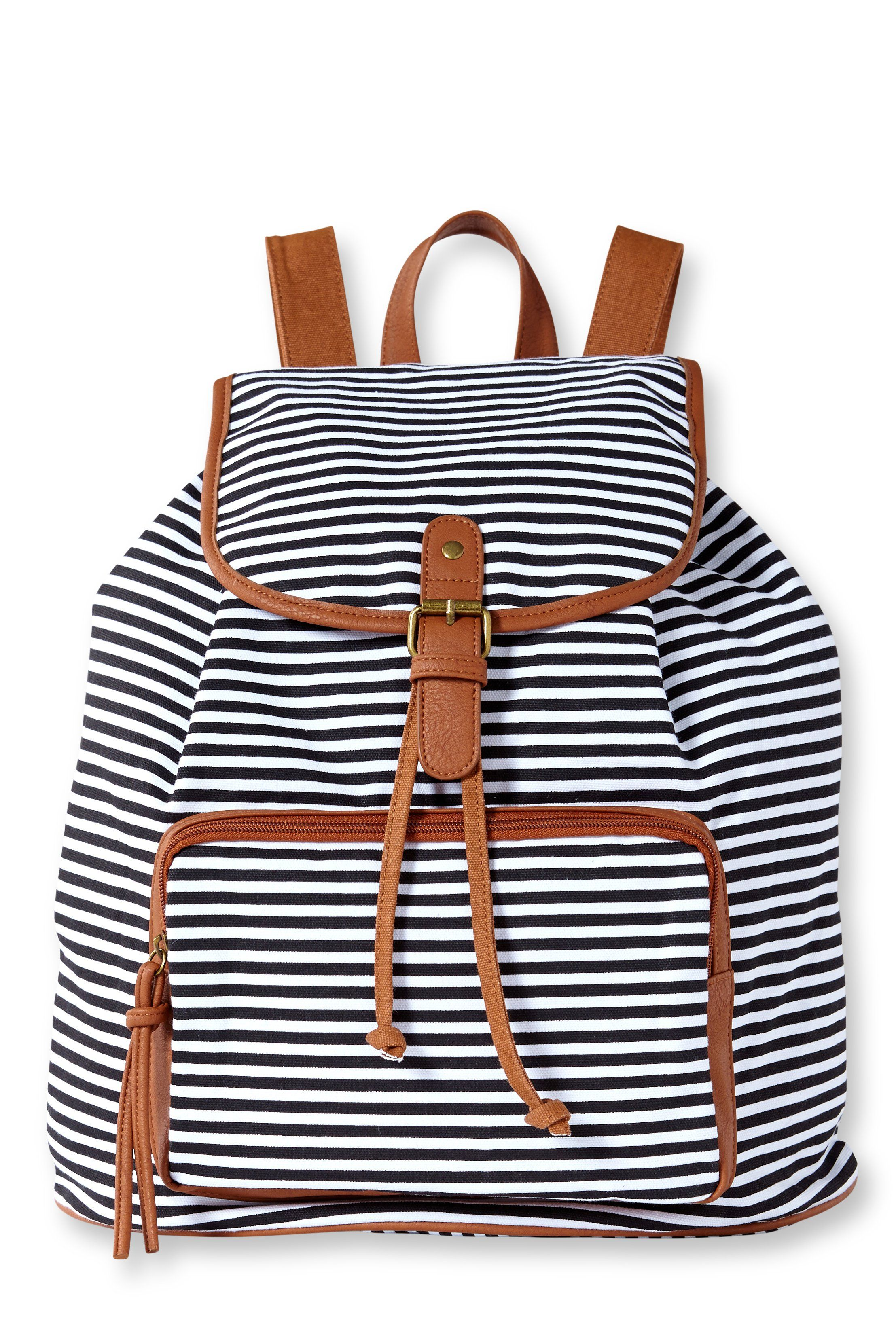 ec141509c0 Retro Navy Stripe Print Fresh Backpack only  34.99 -ByGoods.com. Unisex  Fashionable Canvas Backpack School Bag ...