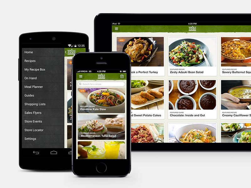 Whole foods recipe app app ui design and mobile design whole foods recipe app forumfinder Images