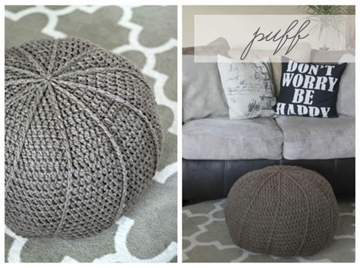 puff de lana / wool puff | crochet | Pinterest | Nähen