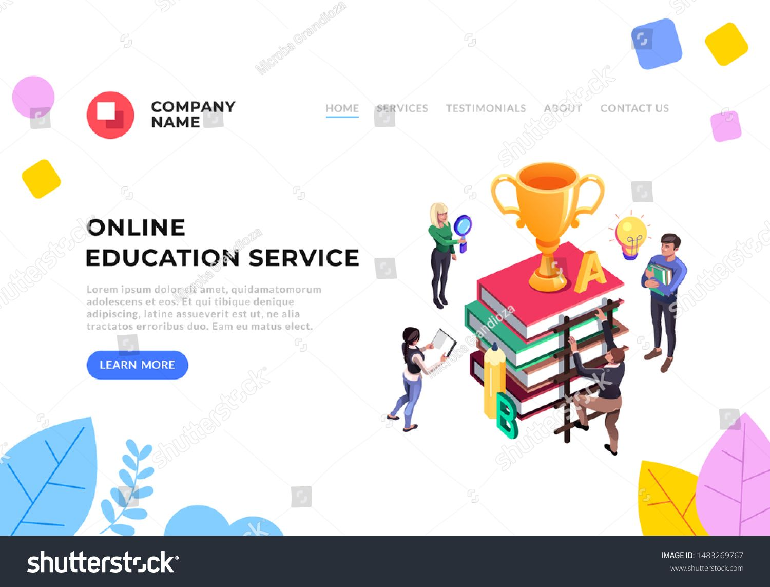 Online Education Tutorials Service Flat Graphic Design Banner Poster Vector Concept Illustration Ad Aff Service Online Education Education Creative Words