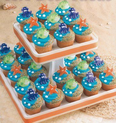 Amazoncom 12 pk Sea Animal Rubber Cupcake Topper Rings Toys