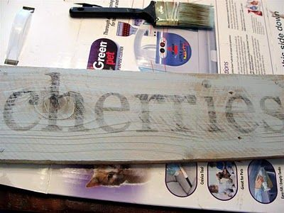 shabby wood signs