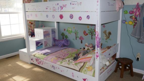 Best Kids Bunk Bed With Storage Stairs Ana White Storage 400 x 300