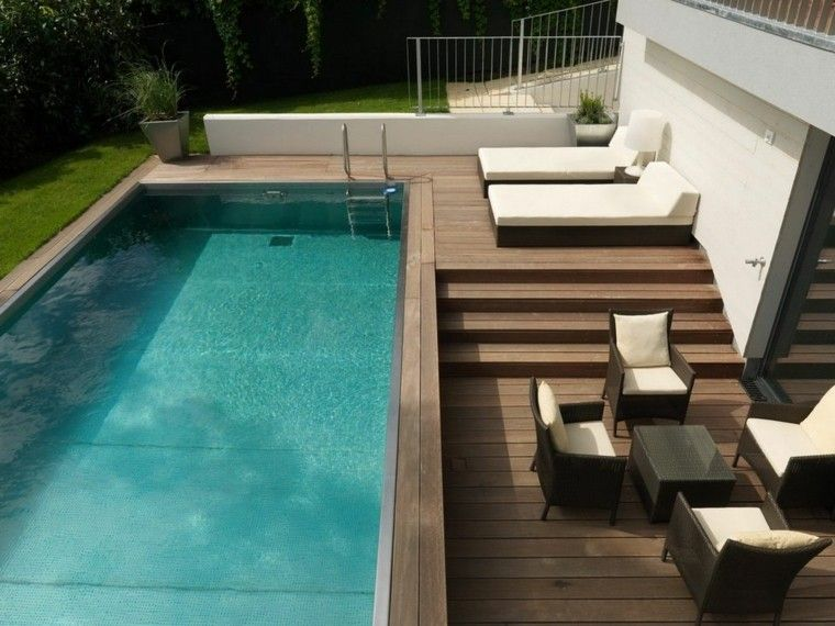 Modelos de diseños paisajistas con piscina - 75 ideas | Pinterest ...