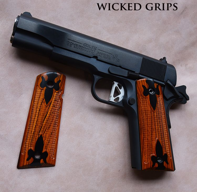 Cocobolo Wood Grips For 1911 | Wooden Thing