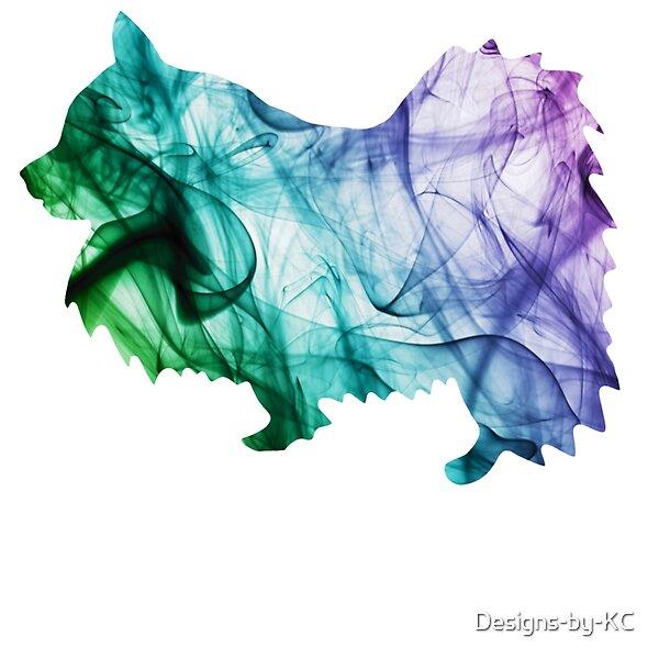 Pomeranian Dog Outline With Colorful Smoke Effect Background Pomeranian Dog Toypom Pom Doglover Animal Pet R Pomeranian Dog Dog Outline Crazy Dog Lady
