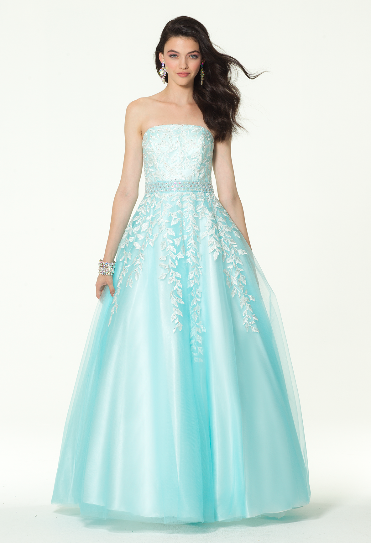 Create your own fairytale with this ethereal evening gown! The ...