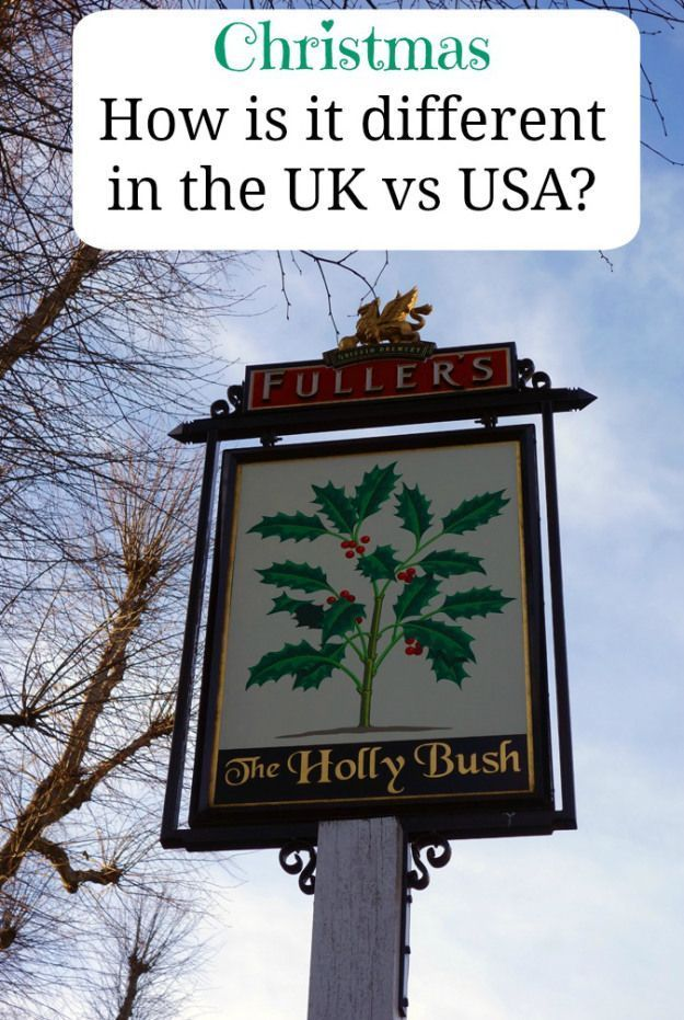 Christmas Differences between the UK and USA English