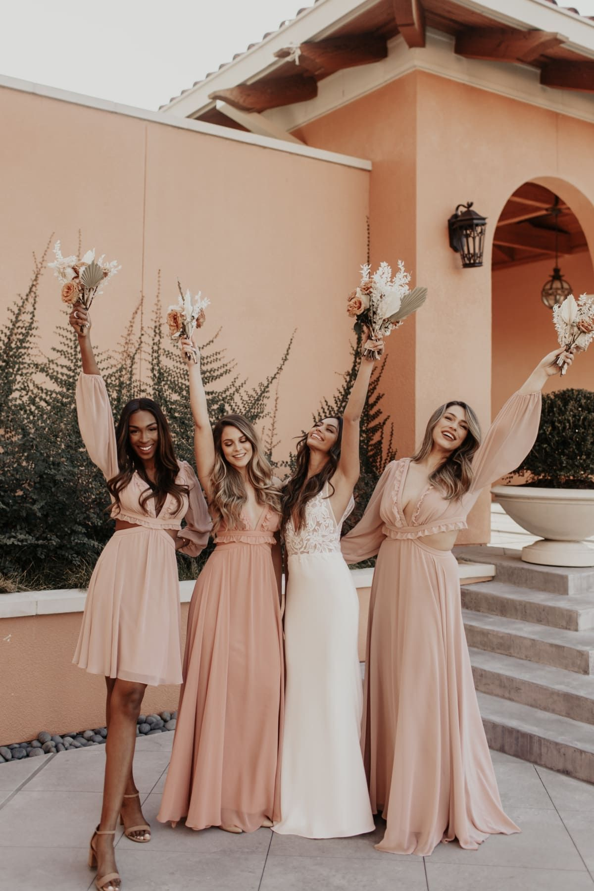 The New Lovely Bridesmaid Dress Collection From Dessy Dress For The Wedding In 2020 Bridesmaid Dresses Boho Peach Bridesmaid Dresses Bridesmaid Dress Collection