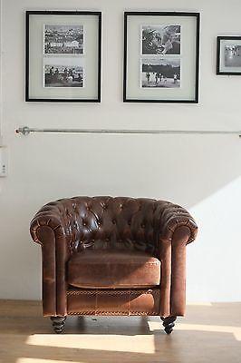 Vintage Clubsessel Ledersessel Cigar Chair Leder Sessel In