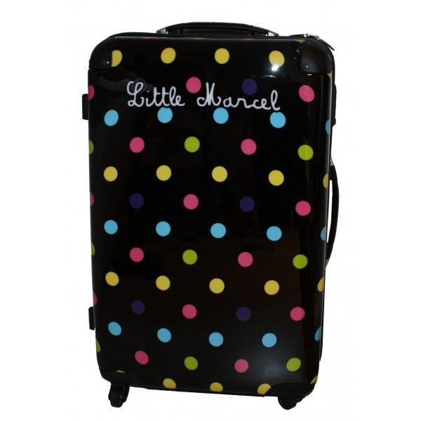 Valise Little Marcel MENTHE    Référence : MENTHE L         Valise 71 cm, Ravissant bagage Little Marcel, aux célèbres imprimés de pois colorés, très tendance!