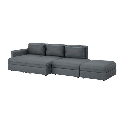 VALLENTUNA 4er Sofa Mit Bett   Hillared Dunkelgrau   IKEA