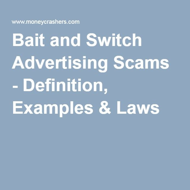 Bait and switch definition