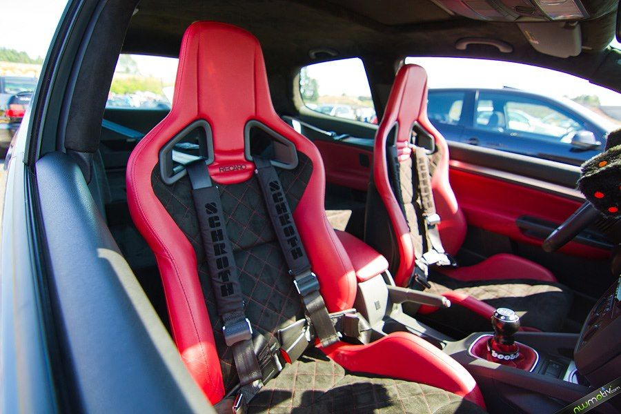 recaro sportster cs wrapped in red synthetic leather w. Black Bedroom Furniture Sets. Home Design Ideas