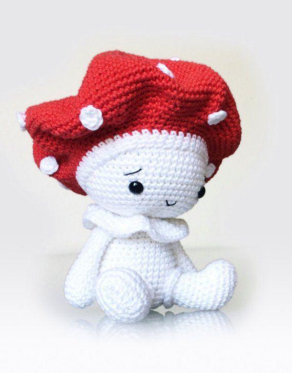 Amigurumi Crochet Mushroom Pattern - Amanita the Mushroom - Stuffed ...