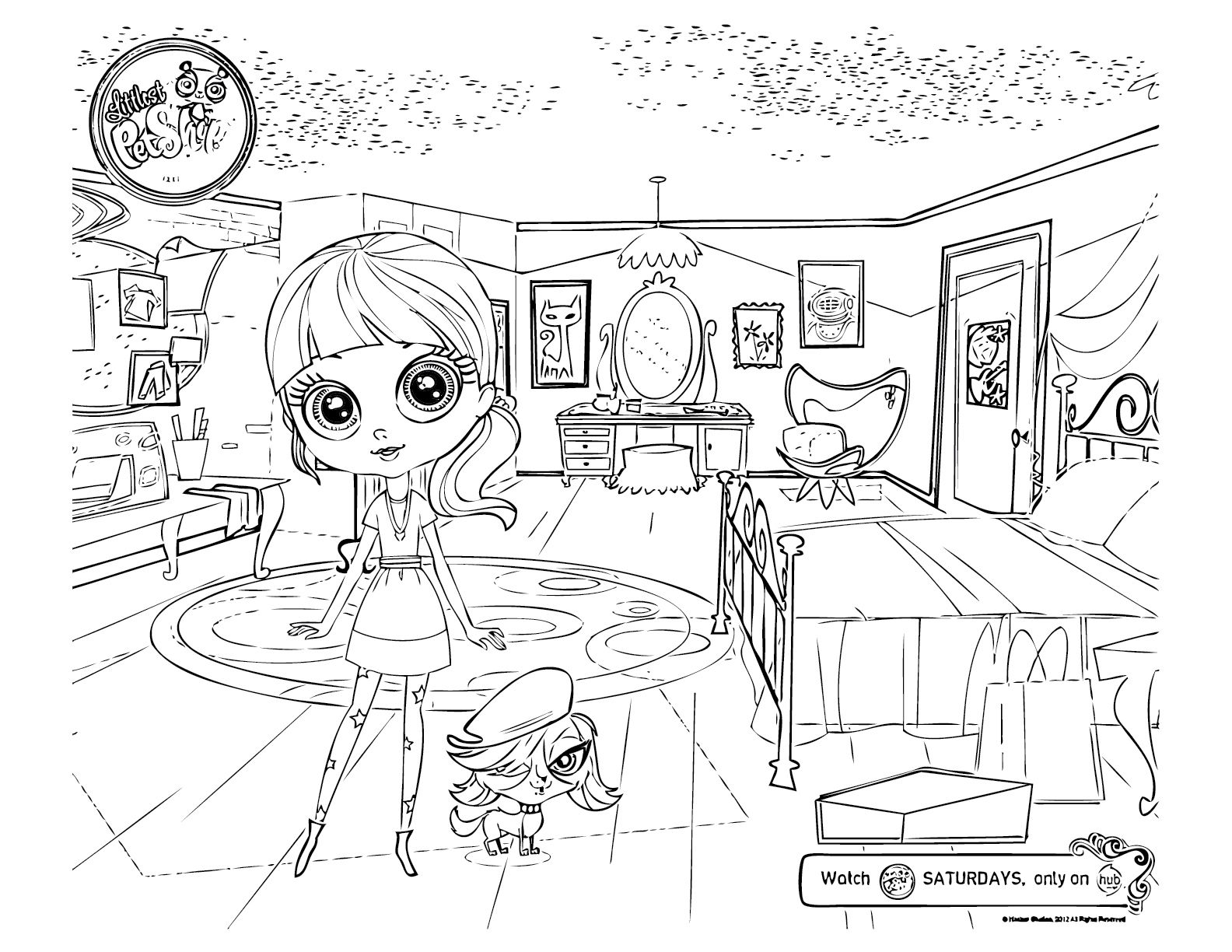Inspirerend Kleurplaten My Littlest Pet Shop