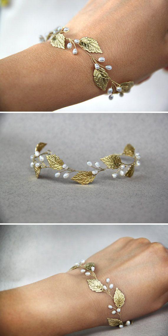 Rose gold Braut Haarschmuck Hochzeit Stirnband Rose gold Braut Kopfschmuck Blatt Krone Stirnband Rose gold Diadem #bridalhairflowers