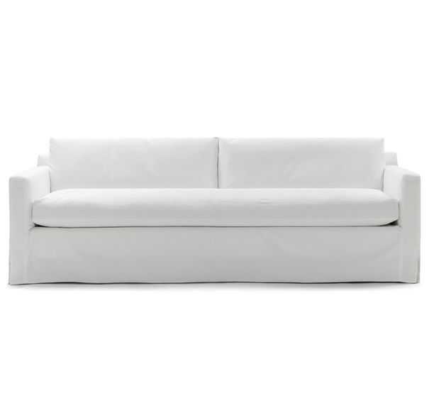 Super Hunter Long Slipcovered Sofa Denim Bleached White K M Alphanode Cool Chair Designs And Ideas Alphanodeonline