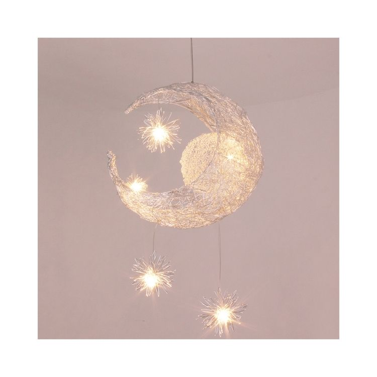 Ledペンダントライト 子供屋照明 照明器具 星 月型照明 玄関照明
