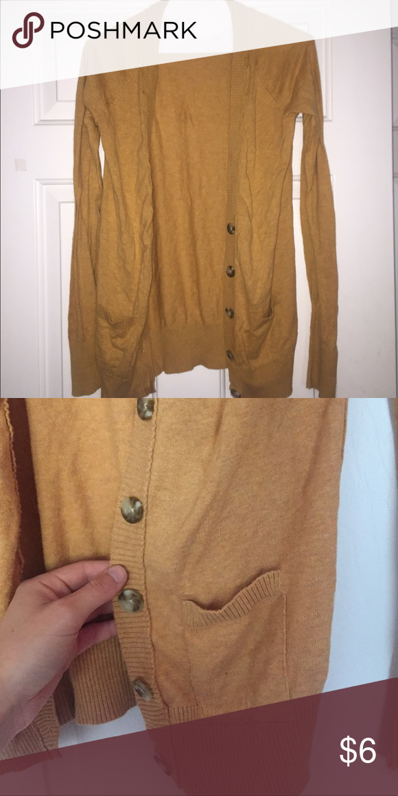 Cardigan Mustard yellow. Worn a hand full of times! Grew out of it Merona Sweaters Cardigans