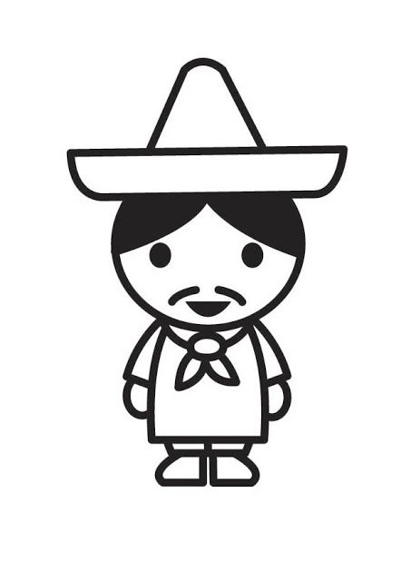 Mexican coloring pages | 4 Kids Coloring Pages | Pinterest | Deberes