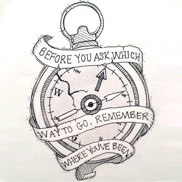 Motivational Compass Tattoo Design | Compass, Tattoo designs and ...