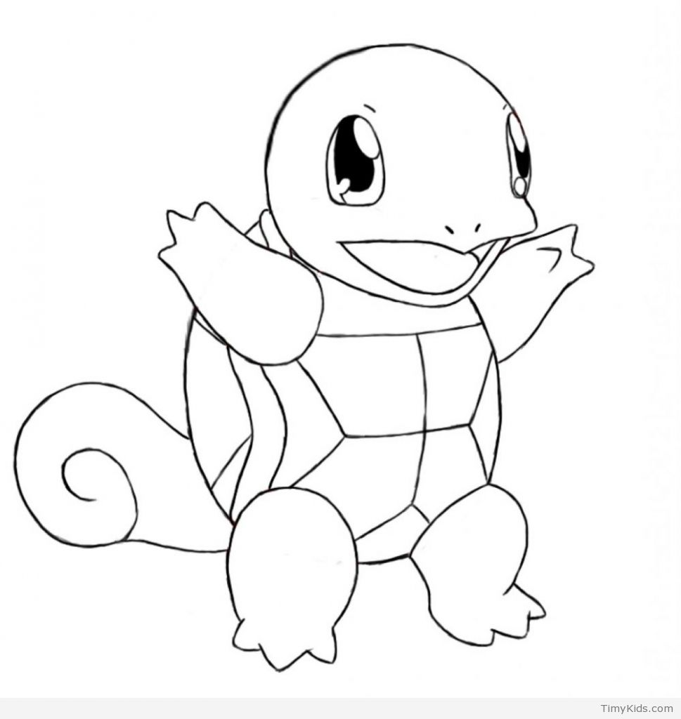 Squirtle Coloring Page Pokemon Coloring Pages Timykids Astonishing