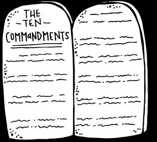 The Ten Commandments Poster Wvbs Store Ten Commandments Bible Posters Bible Cards