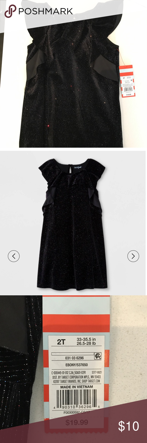 Cat And Jack Toddler Black Glitter Dress 2t Glitter Dress 2t Dress Black Glitter [ 1740 x 580 Pixel ]
