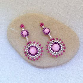 Lisa Yang's Jewelry Blog: Using Circular Brick Stitch Components for Earrings