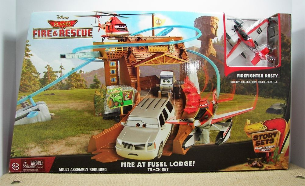 Track Set Fire /& Rescue Fire at Fusel Lodge Disney Planes