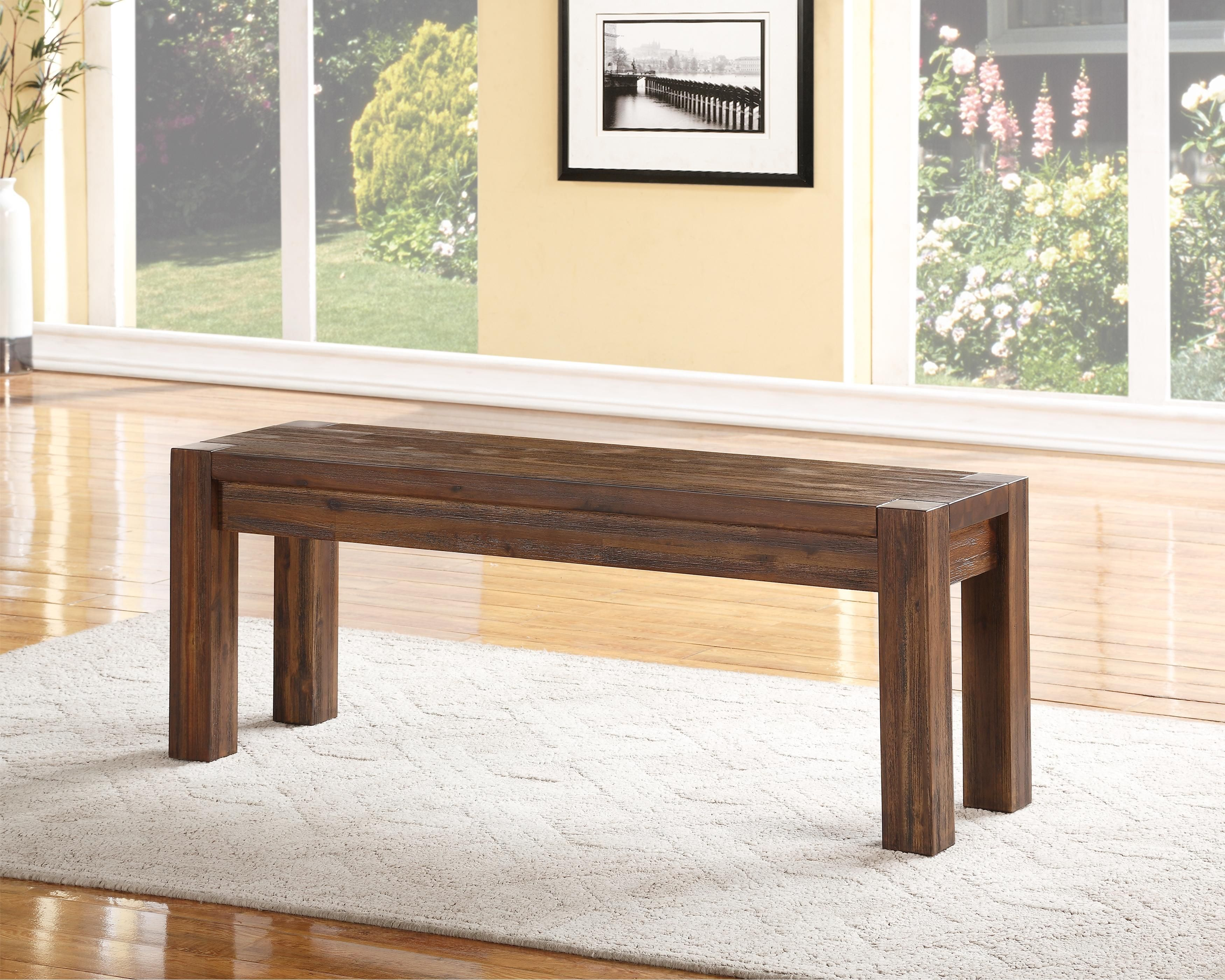 Meadow Dining Dining Bench By Modus International Wood Dining Bench Solid Wood Benches Wood Bench