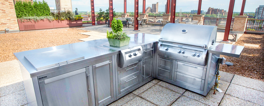 Stainless Steel Outdoor Kitchen Cabinets | Sloan Outdoor Kitchens ...