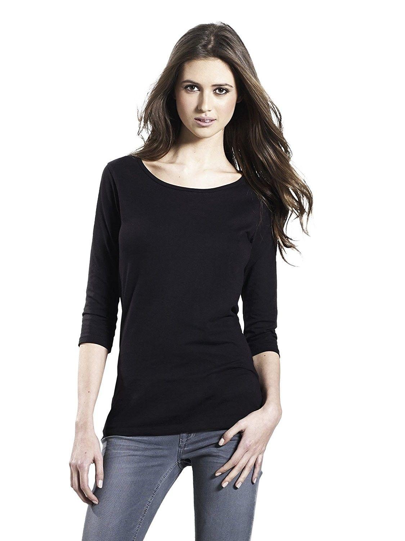 Long sleeve tshirt for women white black 100 premium