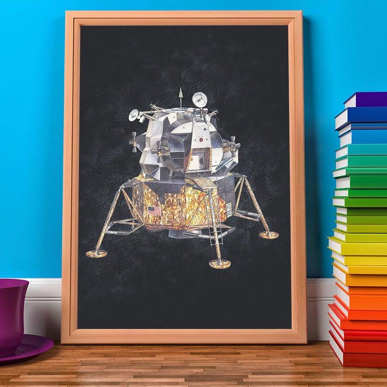 Nasa Poster Apollo Lunar Module Print