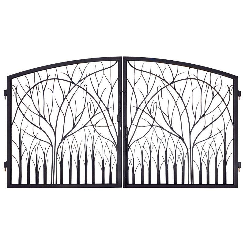 Iron gates entrance nature design gi1401 for Garden gate designs metal