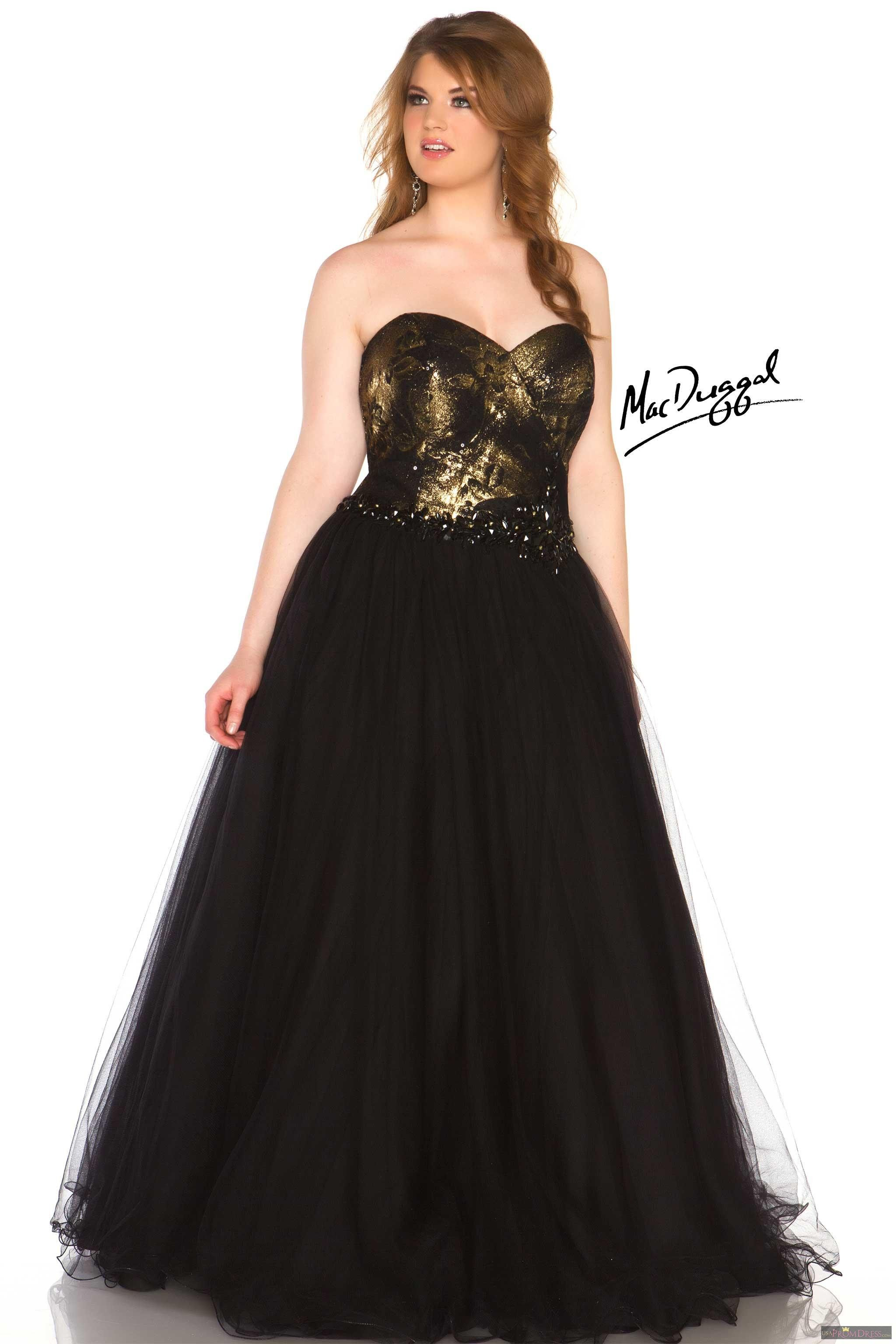 Mac Duggal Style 76483r Black And Gold Are Always A Killer