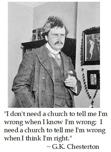 Image result for chesterton i don't need a church