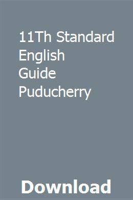 11Th Standard English Guide Puducherry Application