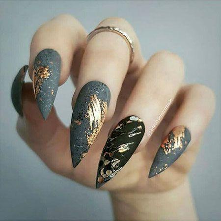 elegant nail designs  uñas stiletto uñas largas y uñas