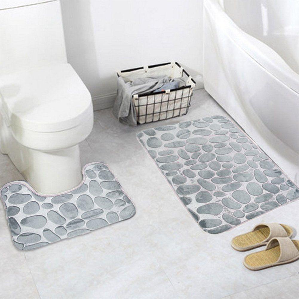 2 Piece Bathroom Rug Mat Setjian Ya Na Extra Soft Polyester