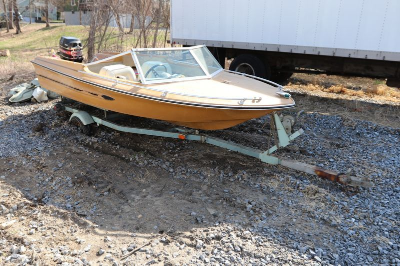 Arrow Glass Scorpion Boat Ser 3714212 Four Seats 65hp Mercury Motor With Thunderbolt Ignition And Snowco Trailer Ser 0 Glass Boat Mercury Motors Glass