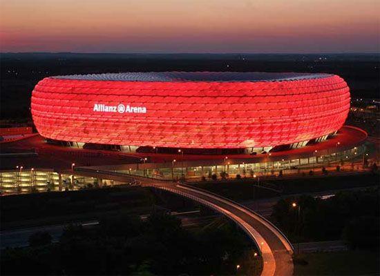 Allianz Arena stadium in #Munich #Germany. Home to Bayern Munich