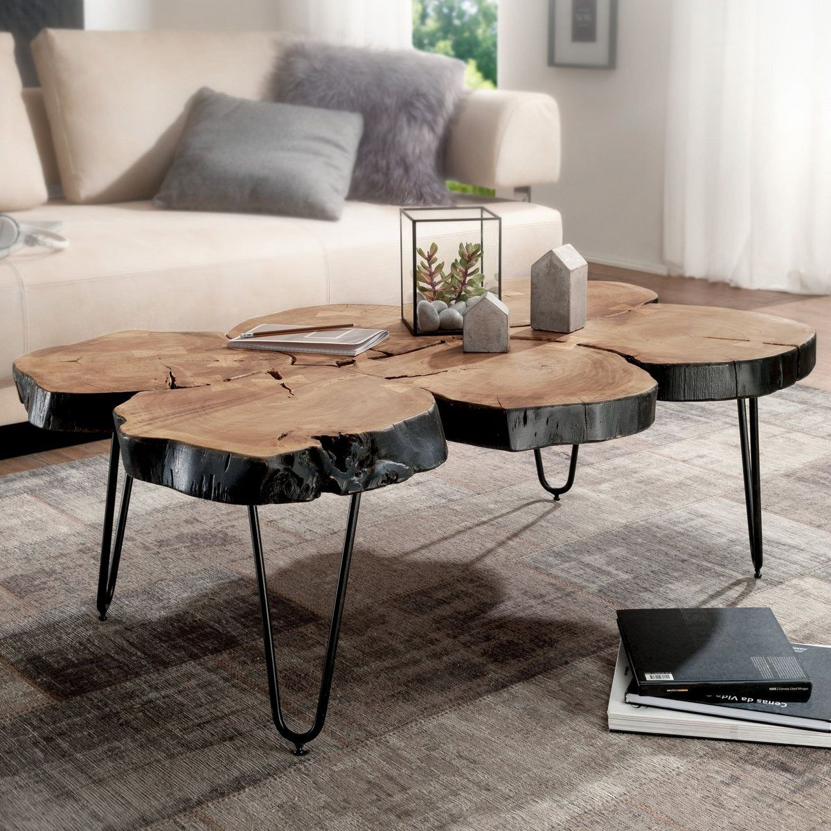 Couchtisch Wl1 510 Bagli Massiv Holz Akazie 115 Cm Breit Wohnzimmer Tisch Design Metallbeine Land In 2020 Wohnzimmertisch Couchtisch Couchtisch Baumstamm