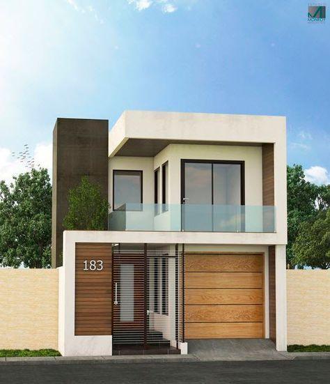 Analizaremos dos modelos de fachadas de casas modernas que for Casas modernas y grandes