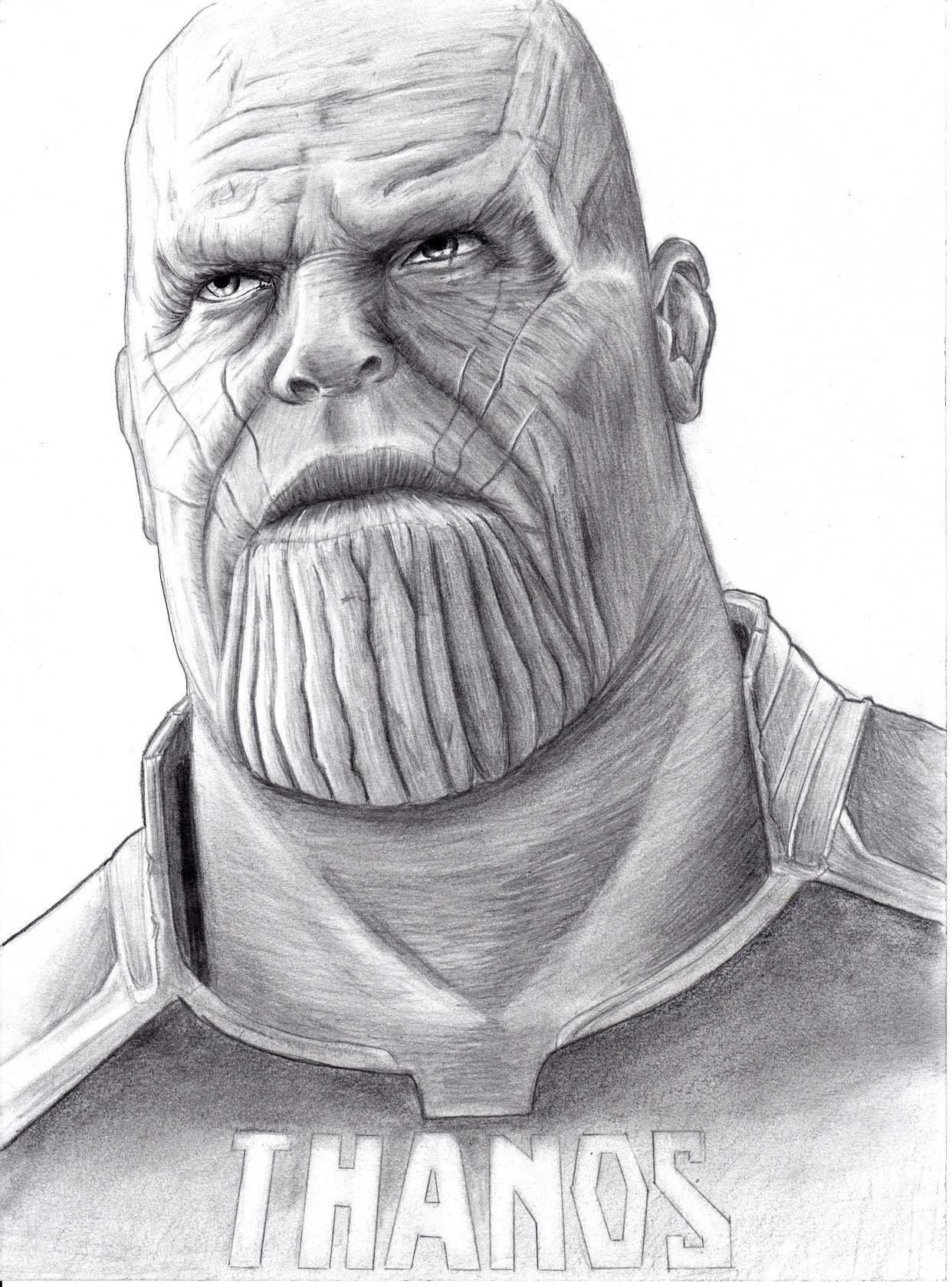 Thanos   Desenhos da marvel, Desenhos de rostos, Marvel ...